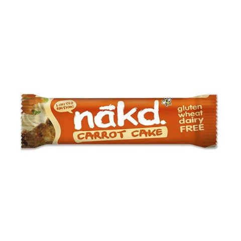 Carrot Cake - Nakd Raw Fruit & Nuts Bars 35g